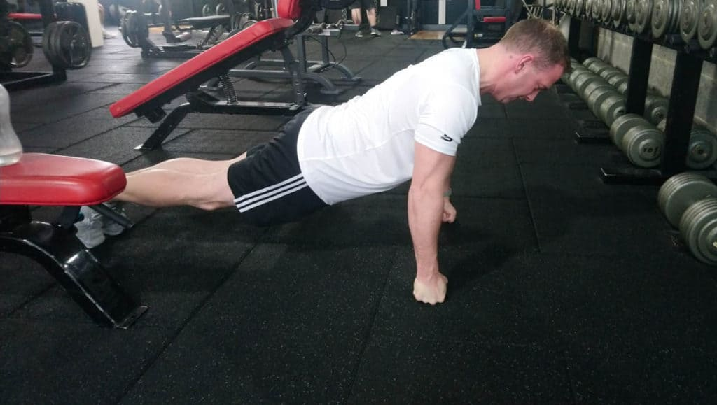 Front Knuckle Push-ups